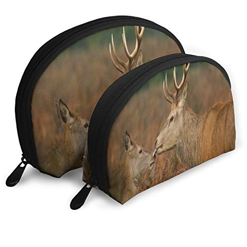 Pouch Zipper Toiletry Organizer Travel Makeup Clutch Bag Deers Animal Cute Care Deer Portable Bags Clutch Pouch Storage Bags