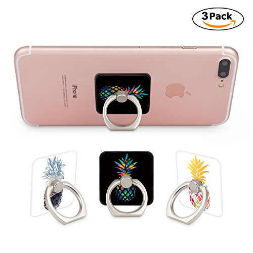 Multi-Function Mounts and Holder Three Pack Expanding Stand Pop Grip Kickstand Sockets for Cellphones - Smartphones and Tablets-Aloha Pineapple