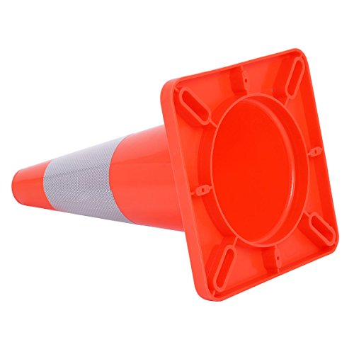 Goplus 5PCS Traffic Cones 18'' PVC Safety Road Parking Cones Driving Construction Cones Orange with 6'' Reflective Strips Collar by Goplus (Image #6)