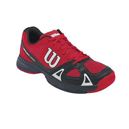 Wilson RUSH PRO JR, Unisex-Kinder Tennisschuhe, Mehrfarbig (WILSON RED WILSON/WILSON RED WILSON/BLACK), 36 1/3 EU (3.5 Kinder UK)