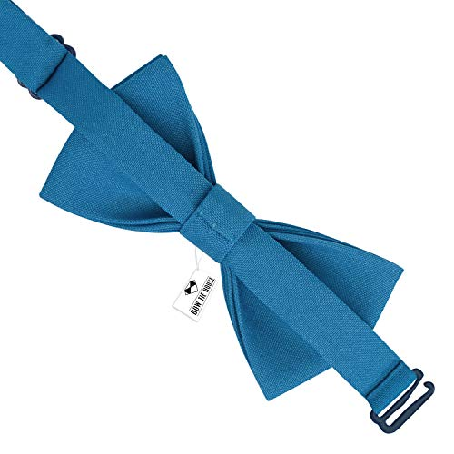 1ef6d85ca611 Classic Pre-Tied Bow Tie Formal Solid Tuxedo, by Bow Tie House (Large