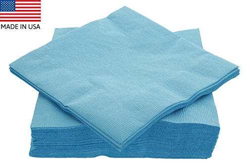 Light Blue Dinner Napkins - 2