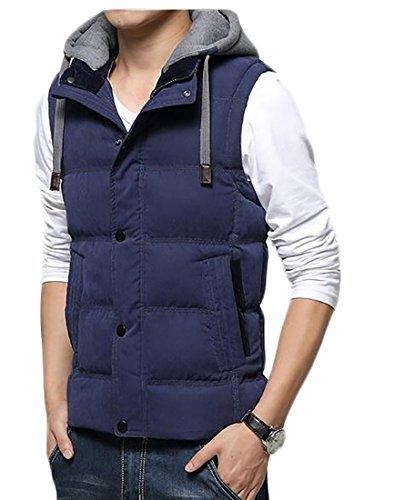 Zipper today UK Jackets Hood Outerwear Removable Sleeveless 2 Men's Winer Vest gTBwxqTtU