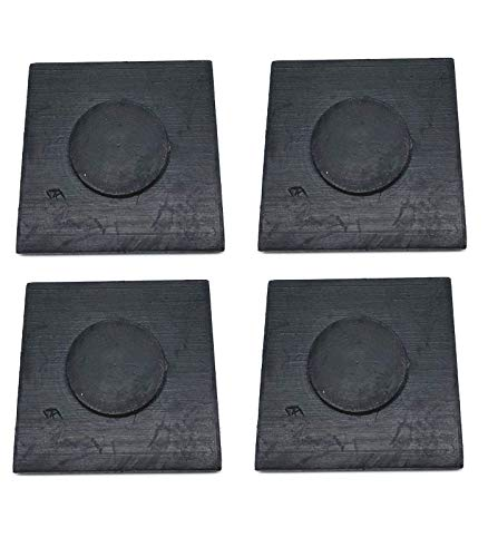 (4 PCs 1 7/8 Inch Square Leaf Spring End Tip Wear Pad Anti Squeak Insert Cushion Silencer Rubber )