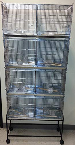 COMBO: Stack and Lock Double Breeder Cage Bird Breeding Cage With Removable Divider And Breeder Doors 4 Of 26.5