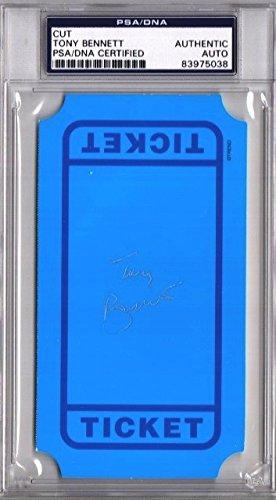 Framed Ticket Holder - Tony Bennett Autographed 3x5 inch Index Card - Ticket - Legendary Singer - PSA/DNA Authenticity (COA) - PSA Slabbed Holder