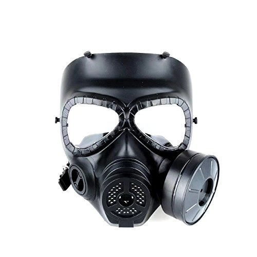 HonsCreat M04 Airsoft Paintbal Dummy Gas Mask, Protective Full Face Mask Fan for Cosplay Zombie Soldiers Halloween Masquerade Resident Evil Antivirus Skull]()