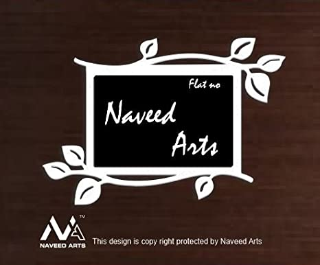 Buy Naveed Arts Jb1017wb Home Door Name Plate Acrylic