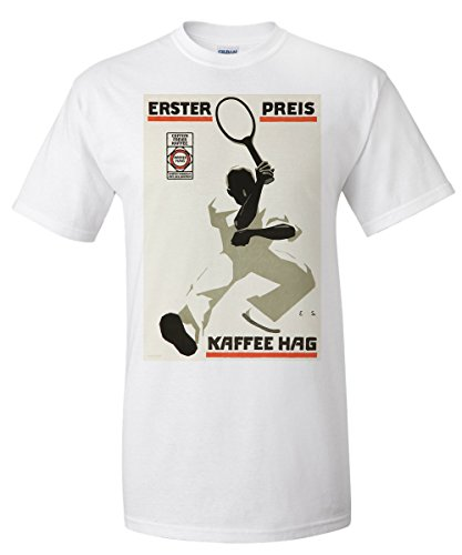 kaffee-hag-erster-preis-vintage-poster-artist-runge-and-scotland-germany-c-1915-white-t-shirt-xx-lar
