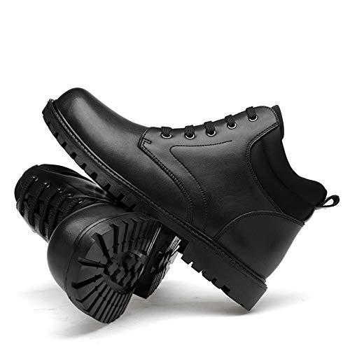 alla alla shoes Stivaletti Alti Uomo Velvet EU 47 Classici Nero Alti da Warm Tacchi Classici Stivali Opzionale Martin Dimensione Caviglia Nero Xiazhi Stivali Color fqES5df