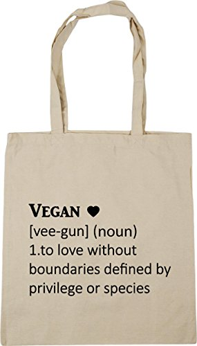defined boundaries Shopping vee 42cm without Bag 10 litres Tote species Natural 1 privilege Definition x38cm Vegan by or Beach HippoWarehouse noun Gym To love gun vpzxaR