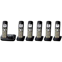 Panasonic KX-TGD222M plus four KX-TGDA20M Cordless Phone with Answering Machine- 6 Handsets (Certified Refurbished) (KX-TGD224M +2)