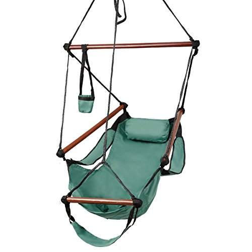 Cheap Outdoor Indoor Hammock Hanging Chair Air Deluxe Swing Chair Solid Wood 250lb