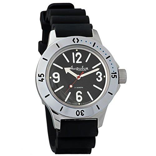 Case Dive Resin Watch (Vostok Amphibian Automatic Mens Wristwatch Self-Winding Military Diver Amphibia Case Wrist Watch #120913 (Resin))