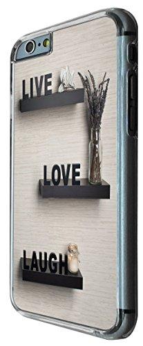 737 - Live Love Laugh Design iphone 6 6S 4.7'' Coque Fashion Trend Case Coque Protection Cover plastique et métal