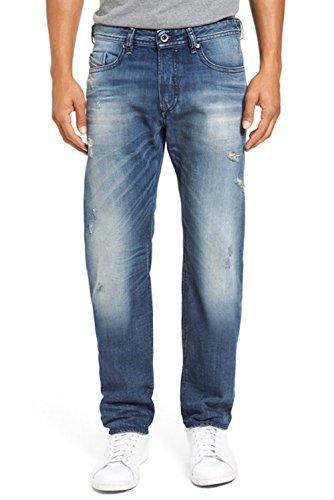 (Diesel Men Buster Slim Straight Leg Denim Jeans (Denim(857M), 31x32) )