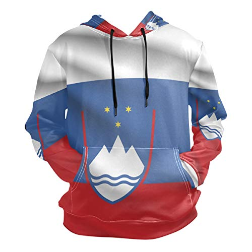 super3Dprinted Slovenia Flag Men's Pullover Hooded Sweatshirt