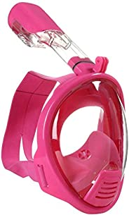 AiScrofa Snorkel Mask, 180° Panoramic Full Face Design with Larger Viewing Area - Easier Breathing, for Both K
