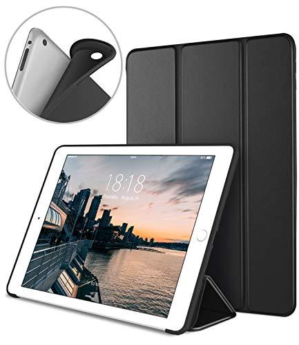 DTTO iPad 2 Case, iPad 3 Case, iPad 4 Case, Ultra Slim Lightweight Smart Case Trifold Cover Stand with Flexible Soft TPU Back Cover for iPad 2, iPad 3, iPad 4 [Auto Sleep/Wake], Black