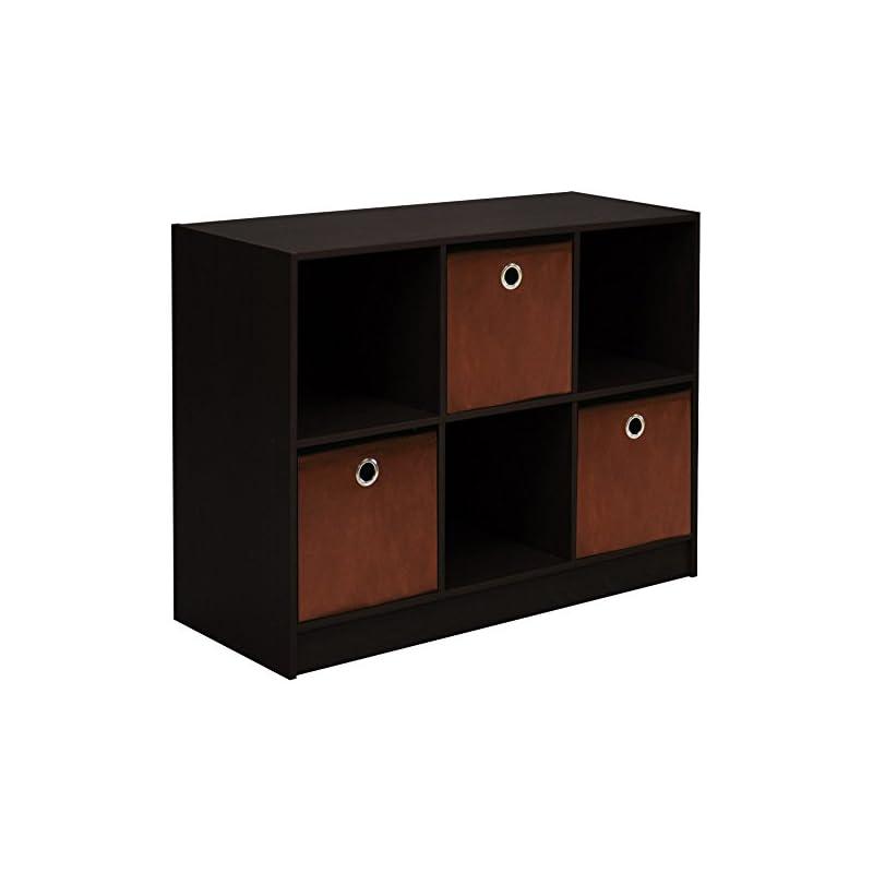 Furinno 99940 EX/BR 3x2 Bookcase Storage