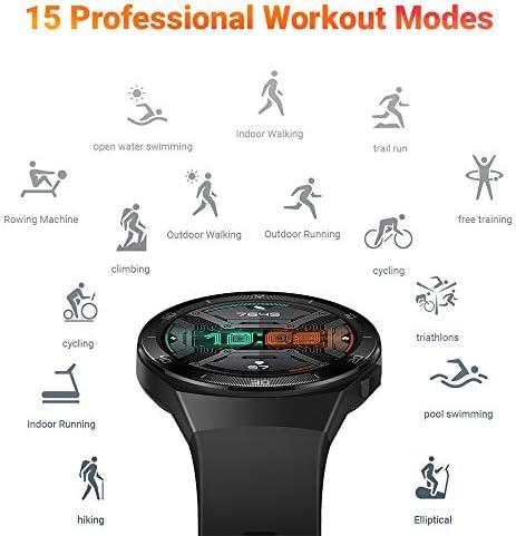 "Huawei Watch GT 2e - Reloj Inteligente ultra-slim, Pantalla de 1.39"" AMOLED, Batería hasta por 2 semanas, Bluetooth, Negro 6"