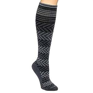 Sockwell Womens Chevron Circulator Compression Socks (Dark Charcoal S/M)