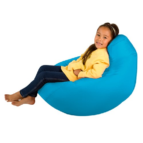 Bean Bag Bazaar Kids Gaming Chair   Large, Aqua Blue, 80cm X 70cm