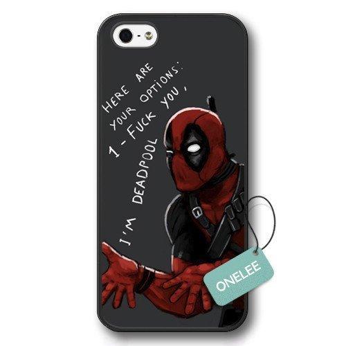 Onelee(TM) - Deadpool Marvel comic superhero Hard Plastic Case Cover for iPhone 5/5s - Black 9 (Iphone Marvel Case compare prices)