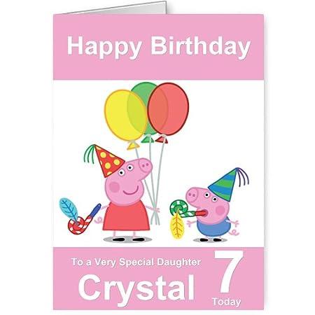 Personalised Peppa Pig Birthday Card Amazon Kitchen Home