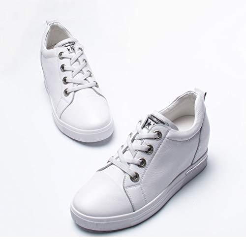 Pizzo Bianco white Sneakers Corsa Formazione 40 Donna White Yan Running Nero Da Up Ginnastica Piattaforma Traspirante Scarpe fxwqA7C