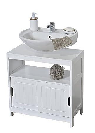 Amazon Evideco 9900310 Non Pedestal Cabinet Cap Ferret White
