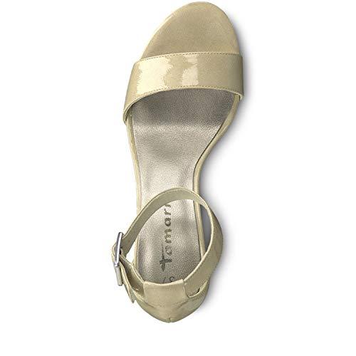 Tamaris Mujer Sandalia 253 Patent Pulsera Para 22 nude Con 1 28018 1 Beige rwOx18Cqr
