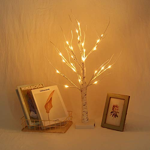 Nesee LED Birch Tree Lamp,LED Plug in Lighted White Willow Branch for Christmas Home Decoration Indoor Outdoor Use