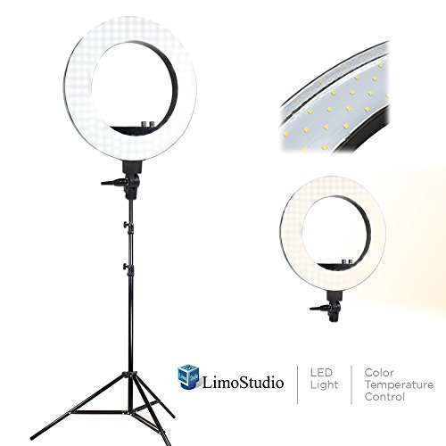 Limoled 18″ Ring Flash Light Dimmable Smd Led Lighting Kit 5500K Photo Light Stands, Agg1775