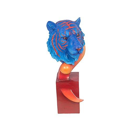 Escultura Tigre de Bengala Blue e Orange