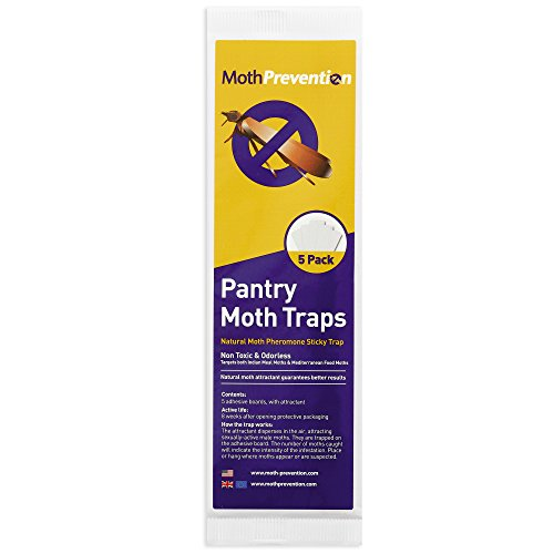 POWERFUL PANTRY MOTH TRAPS 5-Pack from MothPrevention | Pantry Moth Killer | Best Catch-Rate for Food Moths on the Market!