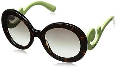 Amazon.com: Prada PR27NS Sunglasses-QFL/0A7 Havana (Gray