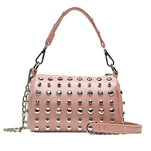 ℊeneral store Women's Fashion Rivet Slant Bag Single Shoulder Bag Purse Messenger Bag
