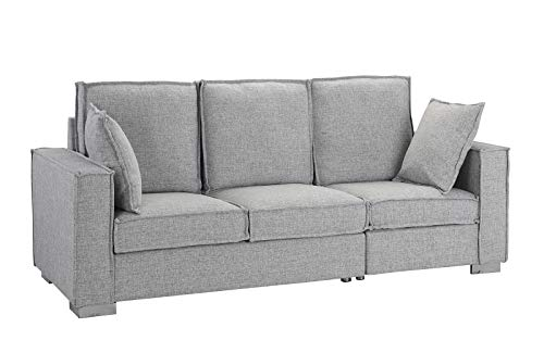 Classic Linen Fabric Sofa, Living Room Couch (Light Grey) ()