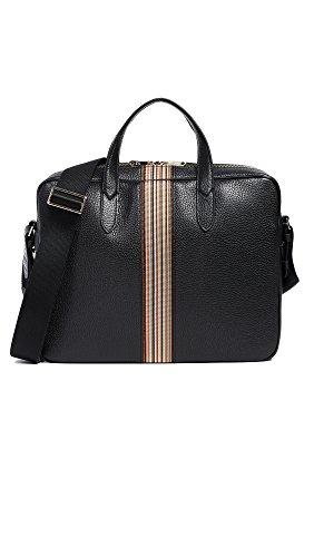 Smith Bags Paul (Paul Smith Men's Multistripe Webbing Portfolio, Black, One Size)