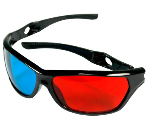 New PLASTIC/ACRYLIC ANAGLYPH RED/BLUE 3D GLASSES MOVIE GAME