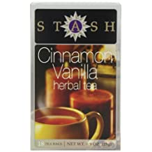 Stash Tea Cinnamon Vanilla Herbal Tea Bags, 18-Count (Pack of 6)