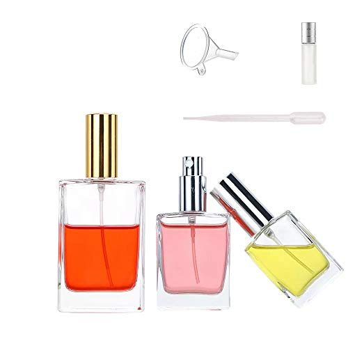 Amazon.com: Paquete de 2 botellas de perfume rellenables de ...