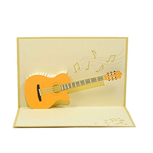 CharmPop Classic Guitar 3D Greeting Card Pop Up Birthday Cards Musical Amazonca Office Products