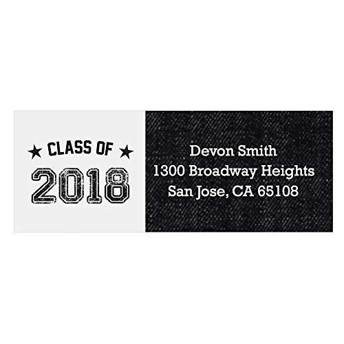 - Personalized 2018 Graduation Party Return Address Labels - Set of 30 ()