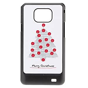 Christmas Tree Pattern Hard Case for Samsung Galaxy S2 I9100
