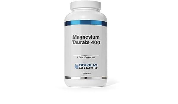 Taurato De Magnesio 400 (400 Mg Magnesio) 120 comprimidos de Douglas Laboratories: Amazon.es: Salud y cuidado personal
