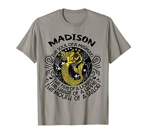 Madison The Soul Of A Mermaid TShirt Gift For Womens