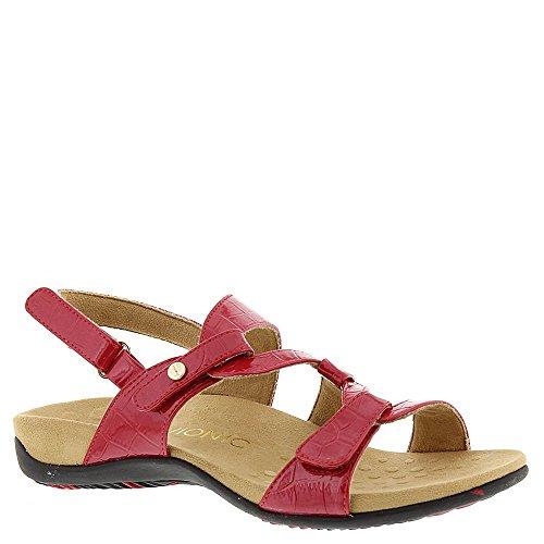Vionic Women's Rest Paros Backstrap Sandal Red Croc ()