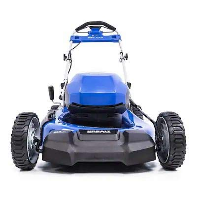 KT Kobalt 80-Volt Max Brushless Lithium Ion Self-propelled 21-in Cordless Electric Lawn Mower (No Battery or Charger, Mower Only)